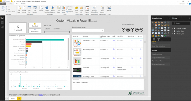 Get latest Custom Visuals in Power BI